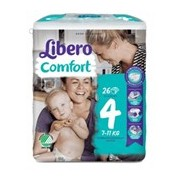 Fraldas comfort 7-14kg, 26 unidades - Libero