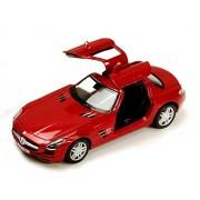 Kinsmart Licensed 5'' Mercedes-Benz SLS AMG Die Cast Car (Red) - Toyville