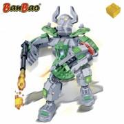 Set constructie Robot verde cu led, Banbao
