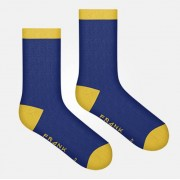 Bamboo Heel and Toe Dark Navy Mustard: 41-46