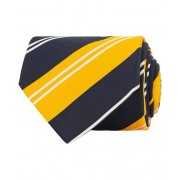 Drake's Navy Tip Reppe Silk/Cotton 8 cm Tie Navy