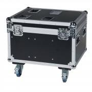 Showtec Case para 4x Phantom 25 / 50 Bolsillo para accesorios, ruedas