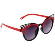 Redex Black And Red Color Stylish Cat-Eye kids Sunglasses (1956)