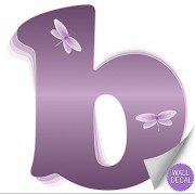 """Wall Decals Letter """" b """" Purple Dragonfly Letters Baby Name Decal Stickers Decorative Alphabet Decor - Children's Room, Baby's Nursery, Girl's Bedroom, Kid's Playroom by Bugs-n-Blooms"""