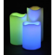 Set Lumanari Decorative cu LED, Cronometru si Telecomanda, 3 Bucati