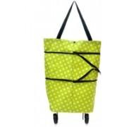 Sanket Enterprise Lightweight Shopping Trolley Wheel Folding Travel Luggage Bag(Green)