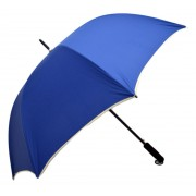 Umbrela Samurai XL ICONIC Automata, Albastra cu margine crem, Ø140cm, articulatii anti-vant