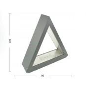 aniba Design Cheminée de table Ethanol Pyramide Boîtier en acier noir - Design modern, Noir
