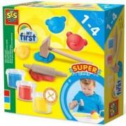 Детски комплект с пластелин и инструменти, SES, 0814432