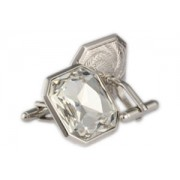 Mousie Bean Crystal Cufflinks Large Square 072