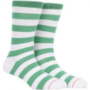 Soxytoes Stripe 2 White Cotton Calf Length Pack of 1 Pair Striped for Men Casual Socks (STS0006B)