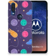 Motorola One Vision Silicone Back Cover Space