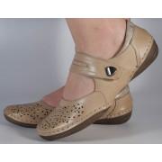 Pantofi bej Reflexan piele naturala (cod 22110-21)