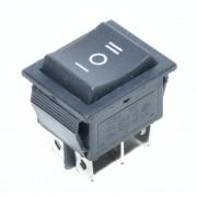 Intrerupator IRS 3 poziti negru KCD4 15A-250V