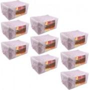 Pretty Krafts Underbed Storage Bag, Storage Organizer, Blanket Cover with Side Handles F1295_PinkP9(Pink)