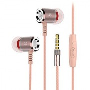 Heavy Bass Hifi Sound Quality Music Metal Earphone With Mic EZ373-GOLD