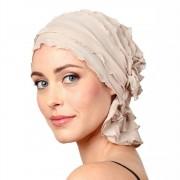 Chemo Beanies® - Headwear Covers for Hair Loss Megan (Champagne Ruffle)