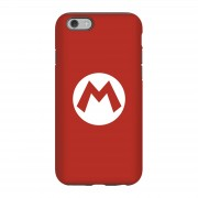 Nintendo Funda móvil Nintendo Mario Logo para iPhone y Android - iPhone 6S - Carcasa doble capa - Brillante