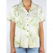 Camisa Para Dama Marca Jamaica - Modelo Flores Color Kaki
