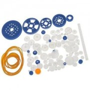 Alcoa Prime 90pcs/Set Plastic Gears Rack Pulley Belt Worm Teeth Car Toy Models RC Part
