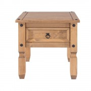 Corona Pine 1 Drawer Lamp Table - 1