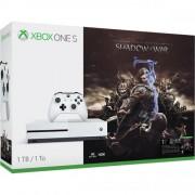 Consola Xbox One S 1 TB, alb + Shadow of War
