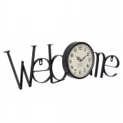 [en.casa]® Fali óra Welcome 60,5 x 3,5 x 16,5 cm ajándékötlet