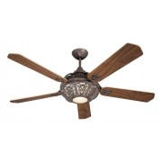 Casafan Ceiling Fan, St. Pepeo Rb, Aged Bronze Blades Cherry / Walnut, A Marvel Of Unparalleled Classic Style.