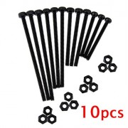 Generic 6mm : 10 Pcs M2 Hexagon Socket Screws with Nuts for Tamiya Mini 4WD RC Car 12.9 Level High Strength Black 6/10/14/16/20/25/30/35/40mm