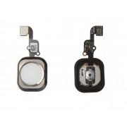 Bouton Home + Nappe Argent Blanc Apple Iphone 6s/6s Plus