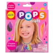 Alex Toys Pops Craft 2 Feather Necklaces, Multi Color