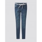 TOM TAILOR Lace-Up Jeans, dark blue denim blue, 140