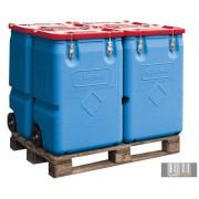 HUL-4435 Műanyag mobil boksz 170 literes