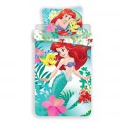 Lenjerie de pat copii Jerry Fabrics Sirena Ariela, din bumbac, 140 x 200 cm, 70 x 90 cm