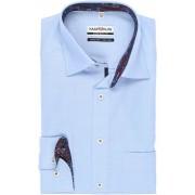 Marvelis Comfort Fit Hemd bleu, Faux-uni