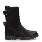Shabbies Laarsjes Ankle Boot Wool Lining Zwart
