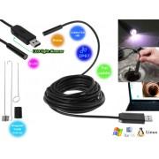 NTR ECAM15 Vízálló endoszkóp kamera 1280x720 HD 2MP 9mm átmérő 6LED USB/microUSB 7m