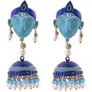 Jewels Gold Party Wear Wedding Latest Stylish Fancy Krishna Jhumki Earring Set For Women Girls