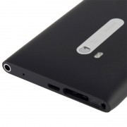 Couverture arrière de batterie de logement avec le câble de câble de bouton latéral pour Nokia Lumia 900 (noir)