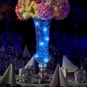 Elemes LED mikroszálas fényhuzal kék – 5 m