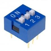 Life Dip Switch 3 Poli Per Circuiti Stampati Passo 2,54 Mm Tcs