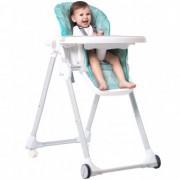 Scaun de masa cu spatar reglabil Dora Baby Eat&Sleep Turcoaz