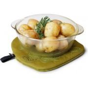 Bosign Podstawka pod gorące naczynie i rękawica kuchenna Bosign oliwkowa