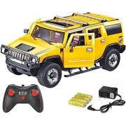 Jannat Hummer H2 1:16 Scale Rechargeable with Opening Doors & Glowing Headlights (Yellow) (Yellow)