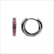 Atlitw Studio Ohrringe Bliss Earrings Creole Pink RUB Silber Damen