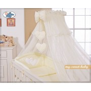 My Sweet Baby 3-Delig Bedset Two Hearts Voile Ecru/Vanille