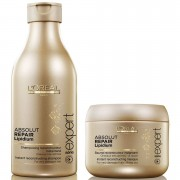 Shampoo Absolut Repair Lipidium (250 ml) e Máscara (200 ml) (conjunto) da L'Oreal Professionnel