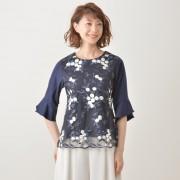 CLEO SUN フラワー刺繍プルオーバー【QVC】40代・50代レディースファッション