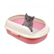 Durable Semi Enclosed Cat Kitten litter Tray Cat Toilet With Litter shovel