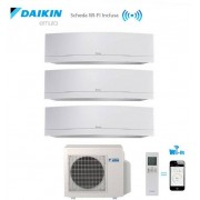 Daikin Climatizzatore Condizionatore Daikin Trial Split Inverter Emura White Wi-Fi 9+9+9 Con 3mxs68g